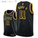 Maillot NBA Los Angeles Lakers NO.11 Joel Berry II Noir Ville 2018 Pas Cher
