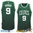 Maillot NBA Boston Celtics retentisse Fashion NO.9 Rondo Vert Pas Cher