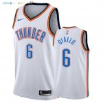 Maillot NBA Oklahoma City Thunder NO.6 Hamidou Diallo Blanc Association 2018 Pas Cher