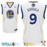 Maillot NBA Golden State Warriors NO.9 Andre Iguodala Blanc Pas Cher