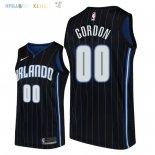 Maillot NBA Orlando Magic NO.0 Aaron Gordon Noir Statement 2018 Pas Cher