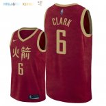Maillot NBA Houston Rockets NO.6 Gary Clark Nike Rouge Ville 2018-2019 Pas Cher