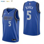Maillot NBA Dallas Mavericks NO.5 J.J. Barea Bleu Icon 2017-2018 Pas Cher