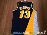 Maillot NBA Indiana Pacers NO.13 Paul George Retro Noir Pas Cher