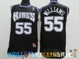 Maillot NBA Sacramento Kings NO.55 Jason Williams Noir Pas Cher