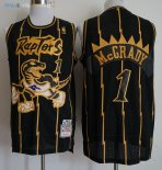 Maillot NBA Toronto Raptors NO.1 Tracy McGrady Retro Or Noir 1998-99 Pas Cher