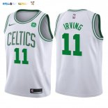 Maillot NBA Enfant Boston Celtics NO.11 Kyrie Irving Blanc Pas Cher