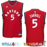 Maillot NBA Toronto Raptors NO.5 DeMarre Carroll Rouge Pas Cher