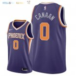 Maillot NBA Phoenix Suns NO.0 Isaiah Canaan Pourpre Icon 2018 Pas Cher