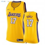 Maillot NBA Femme Los Angeles Lakers NO.17 Isaac Bonga Jaune Icon 2018 Pas Cher