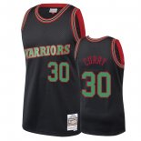 Maillot NBA Golden State Warriors 2018 Noël NO.30 Stephen Curry Noir Pas Cher