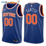 Maillot NBA New York Knicks NO.0 Enes Kanter Bleu Icon 2017-2018 Pas Cher