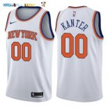 Maillot NBA New York Knicks NO.0 Enes Kanter Blanc Association 2017-2018 Pas Cher