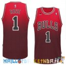 Maillot NBA Chicago Bulls retentisse Fashion NO.1 Rose Rouge Pas Cher