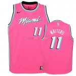 Maillot NBA Enfant Earned Edition Miami Heat NO.11 Dion Waiters Rose 2018-19 Pas Cher