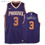 Maillot NBA Enfant Phoenix Suns NO.3 Jared Dudley Pourpre Icon 2018 Pas Cher