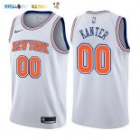 Maillot NBA New York Knicks NO.0 Enes Kanter Blanc Statement 2017-2018 Pas Cher