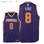 Maillot NBA Enfant Phoenix Suns NO.8 George King Pourpre Icon 2018 Pas Cher