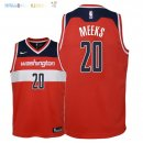 Maillot NBA Enfant Washington Wizards NO.20 Jodie Meeks Rouge Icon 2018 Pas Cher
