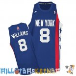 Maillot NBA Brooklyn Nets ABA NO.8 Willams Bleu Pas Cher