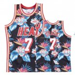 Maillot NBA Miami Heat NO.7 Goran Dragic Rouge floral Pas Cher