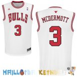 Maillot NBA Chicago Bulls NO.3 Doug McDermott Blanc Pas Cher