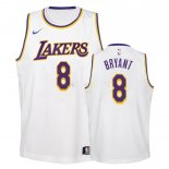 Maillot Enfant Los Angeles Lakers NO.8 Kobe Bryant Blanc Association 2018-19 Pas Cher