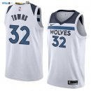 Maillot NBA Minnesota Timberwolves NO.32 Karl Anthony Towns Blanc Association 2017-2018 Pas Cher