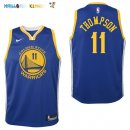 Maillot NBA Enfant Golden State Warriors NO.11 Klay Thompson Bleu Icon Pas Cher