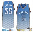 Maillot NBA Oklahoma City Thunder retentisse Fashion NO.35 Durant Bleu Pas Cher