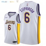 Maillot NBA Los Angeles Lakers NO.6 Lance Stephenson Blanc Association 2018 Pas Cher