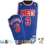 Maillot NBA Brooklyn Nets NO.3 Drazen Petrovic Bleu Pas Cher
