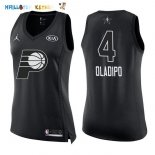 Maillot NBA Femme 2018 All Star NO.4 Victor Oladipo Noir Pas Cher