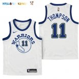 Maillot NBA Enfant Golden State Warriors NO.11 Klay Thompson Nike Retro Blanc Pas Cher