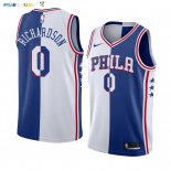 Maillot NBA Nike Phildelphia Sixers NO.0 Josh Richardson Blanc Bleu Split Edition