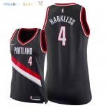 Maillot NBA Femme Portland Trail Blazers NO.4 Maurice Harkless Noir Icon 2018 Pas Cher