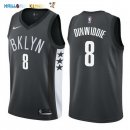 Maillot NBA Brooklyn Nets NO.8 Spencer Dinwiddie Noir Statement 2017-2018 Pas Cher
