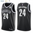 Maillot NBA Brooklyn Nets NO.24 Rondae Hollis Jefferson Noir 2017-2018 Pas Cher