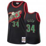 Maillot NBA Seattle SuperSonics 2018 Noël NO.34 Ray Allen Noir Pas Cher