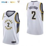 Maillot NBA Indiana Pacers NO.2 Darren Collison Blanc Association 2017-2018 Pas Cher