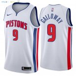 Maillot NBA Detroit Pistons NO.9 Langston Galloway Blanc Association 2018 Pas Cher