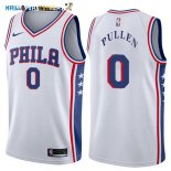 Maillot NBA Philadelphia Sixers NO.0 Jacob Pullen Blanc Association 2017-2018 Pas Cher