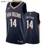 Maillot New Orleans Pelicans NO.14 Brandon Ingram Marine Icon 2019-20