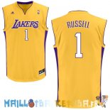 Maillot NBA L.A.Lakers NO.1 D'Angelo Russell Jaune Pas Cher