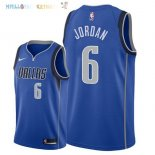 Maillot NBA Dallas Mavericks NO.6 DeAndre Jordan Bleu Icon 2018 Pas Cher