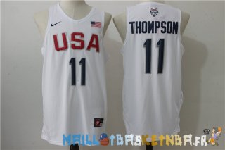 Maillot NBA 2016 USA Klay Thompson NO.11 Blanc Pas Cher