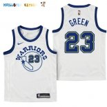 Maillot NBA Enfant Golden State Warriors NO.23 Draymond Green Nike Retro Blanc Pas Cher