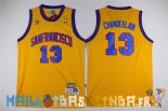 Maillot NBA Golden State Warriors NO.13 Wilt Chamberlain Jaune Pas Cher