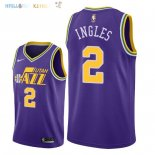 Maillot NBA Utah Jazz NO.2 Joe Ingles Retro Pourpre 2018 Pas Cher