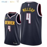 Maillot NBA Denver Nuggets NO.4 Paul Millsap Marine Icon 2018-2019 Pas Cher